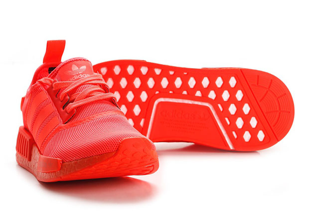 all red adidas nmd