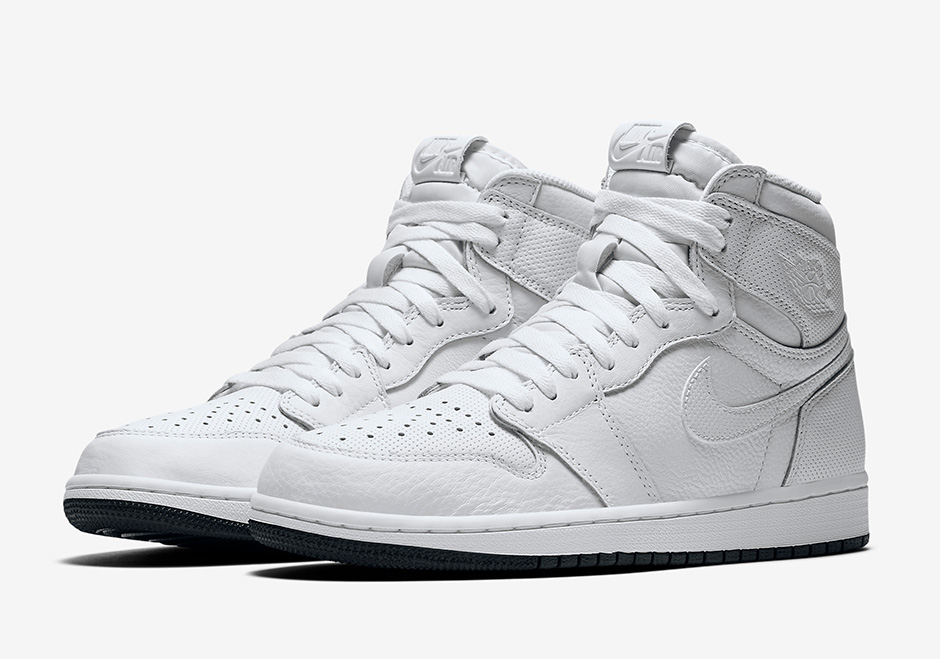 """low priced c9e62 0a84b ... White Air Jordan 1 """"Perforated Pack"""" Release Date February 4th, 2017 160.  Color ..."""