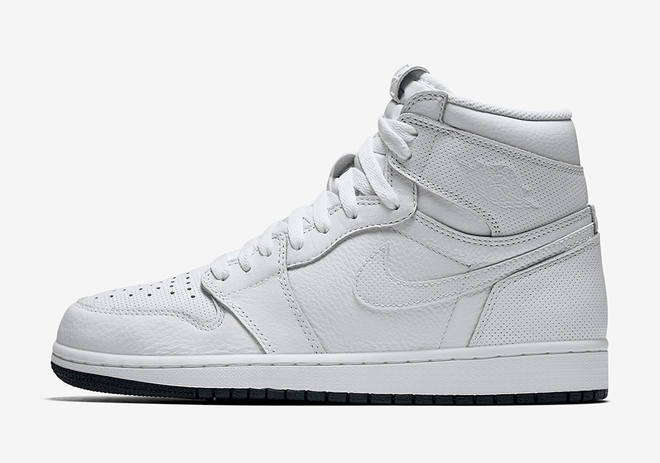 """check out b92af 31dcd The Air Jordan 1 Retro High """"Perforated Pack"""" Debuts This February Air  Jordan 1 Perforated White Air Jordan 1 """"Perforated Pack"""" Release Date  February 4th ..."""
