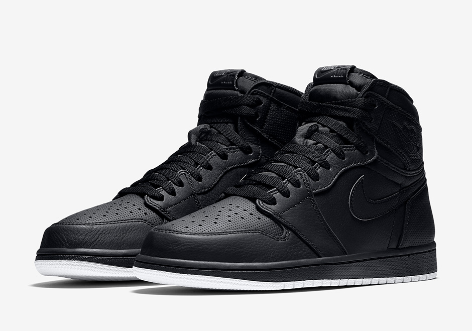 """premium selection c7abf ca623 Air Jordan 1 """"Perforated Pack"""" Release Date  February 4th, 2017  160.  Color  Black Black-White Style Code  555088-002"""