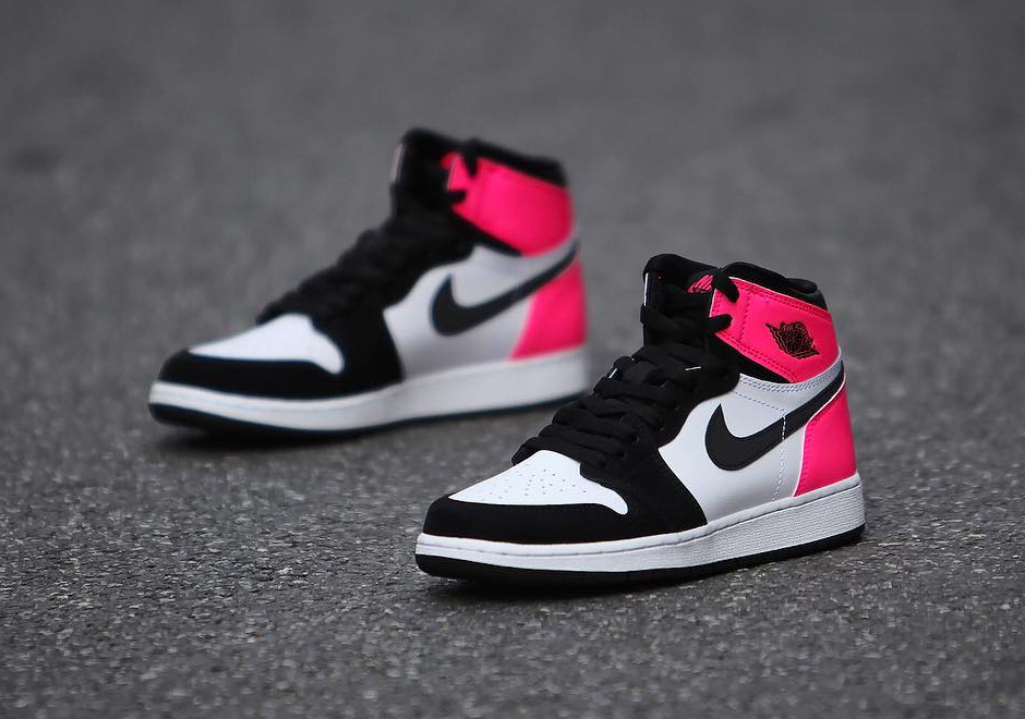 Air Jordan 1 GG Black Pink Valentines Day 2017
