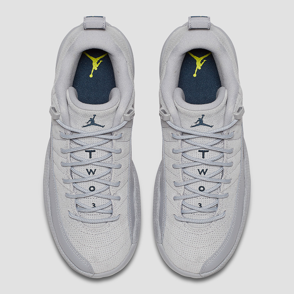 """new concept 889b6 2eb79 ... Retro Copper April 2016 Air Jordan 12 Low """"Wolf Grey"""" Releases In March  ..."""