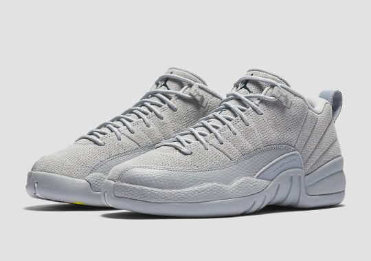 """Air Jordan 12 Low """"Wolf Grey"""" Releases In March"""