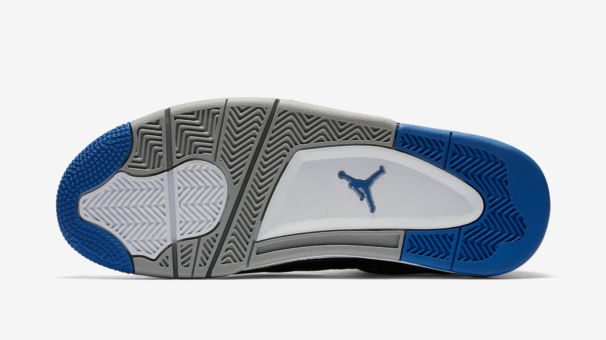 Air Jordan Retro 4 Nero E Blu CCPVnXO