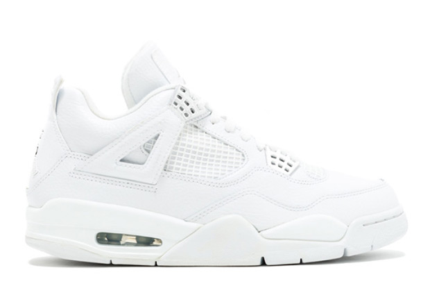 "Air Jordan 4 ""Pure Money"" Release Date: May 13th, 2017 $190. Color: White/ White-Metallic Silver"