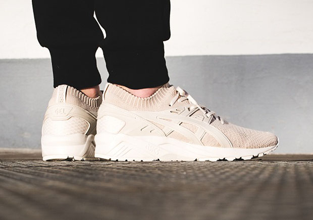 asics kayano trainer knit beige