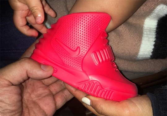 Kanye West Had Baby Red October Yeezy 2s Made For North West