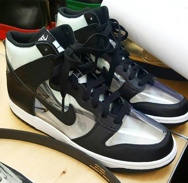 00f38c9449532 ... Air COMME des GARÇONS Released A Clear Nike Dunk High In Japan ...