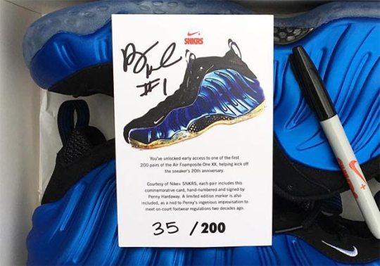 200 Pairs Of Early Access Royal Foamposites Came With Penny's Autograph