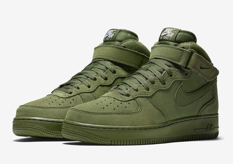 "sports shoes 4eaf9 03eeb Nike Air Force 1 Mid ""Olive"""