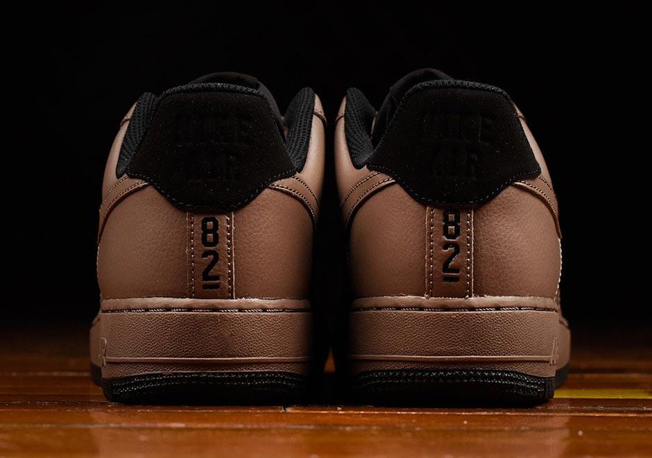 dark brown air force ones