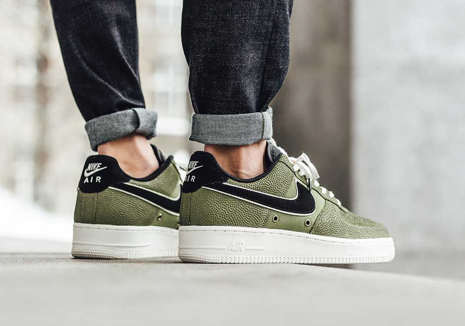 f3c50077c7ca24 Nike Puts Palm Green Basketball Leather Uppers On The Air Force 1
