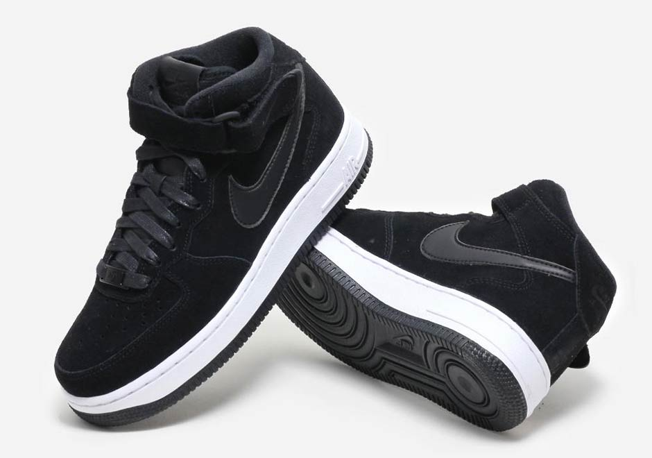 lower price with a1389 c7a49 Nike Drops An Air Force 1 Mid In Black Suede