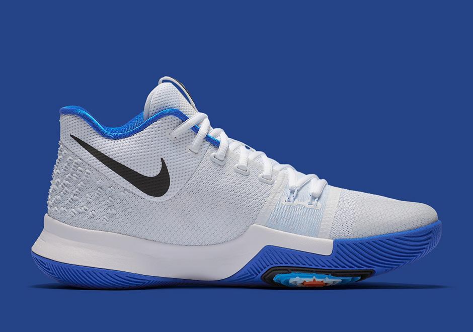 Duke Nike Kyrie 3 GS WhiteChlorine Blue Black Best