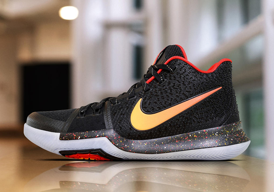 Nike Kyrie 3 Black Red Yellow PE  b71cb4ca5