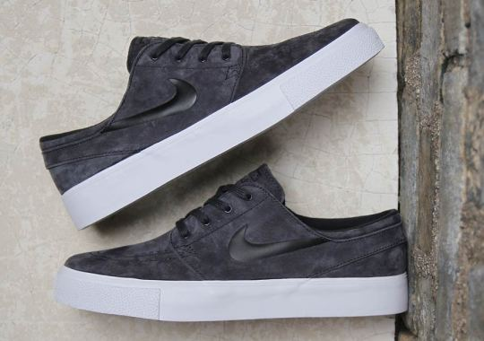 The Nike SB Stefan Janoski Stays Clean In Premium Anthracite Suede