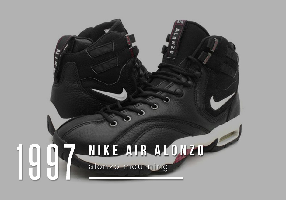 Alonzo Mourning Air 1997 The Award For Most Oddball Signature Basketball Shoe From Nike