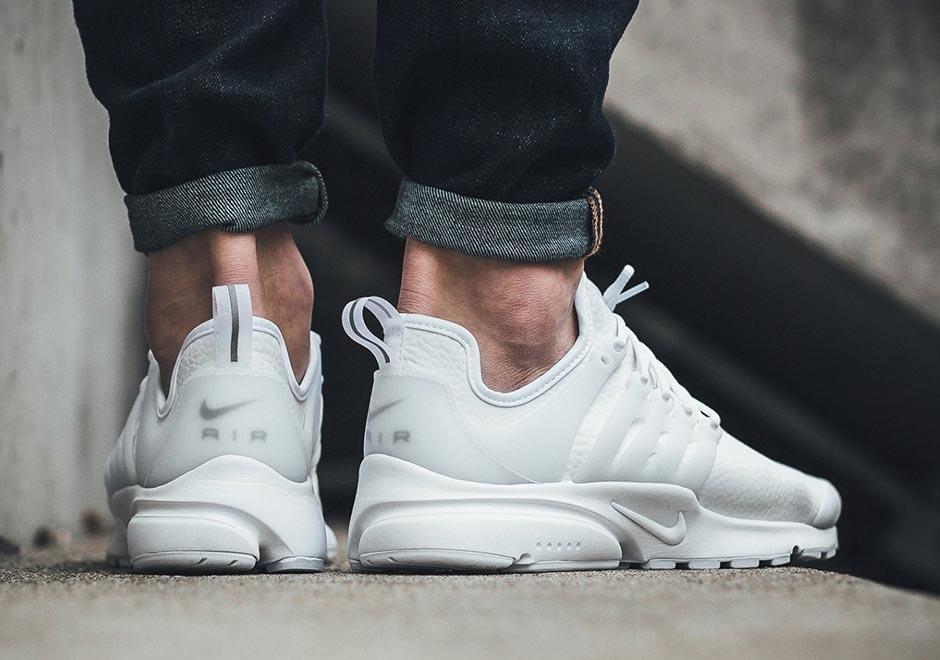 Nike Air Presto White Leather 878071-101  46af815570c9