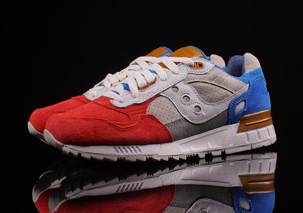 new style bba74 b1cf3 Saucony Shadow 5000 Red Grey Blue | SneakerNews.com