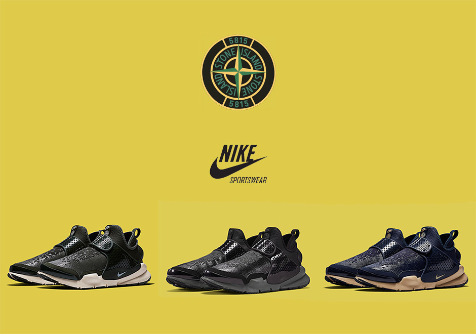 sneakers for cheap 70765 cfe43 Stone Island Creates A Nike Sock Dart Mid In Three Colors
