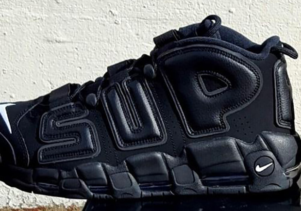 Supreme Nike Air More Uptempo Suptempo On Feet