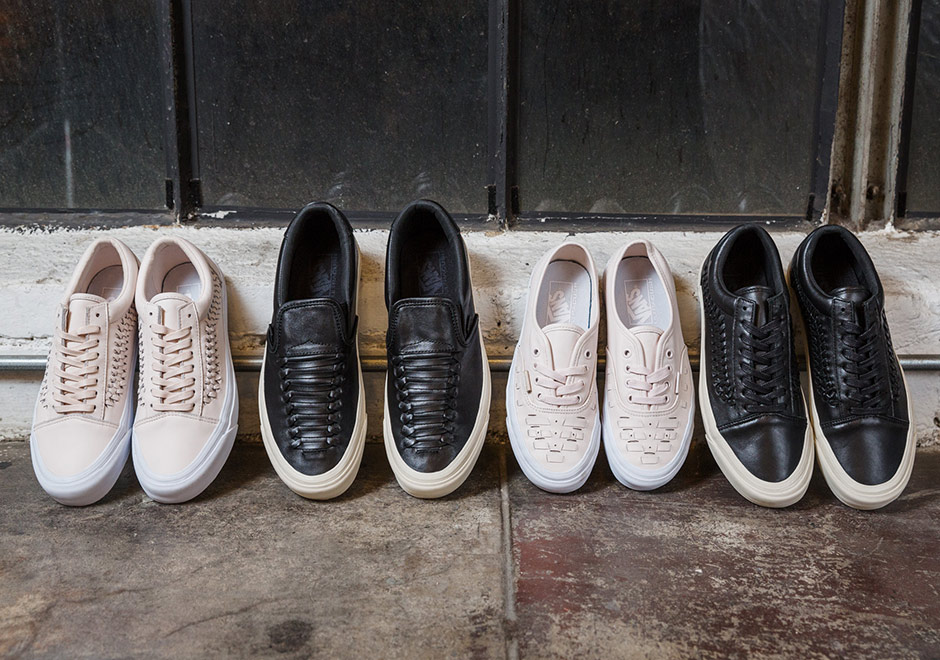 d36d7221647e82 Vans adds a refined touch to a number of their most classic models with the  just-released woven leather set of the Sk8-Hi Zip