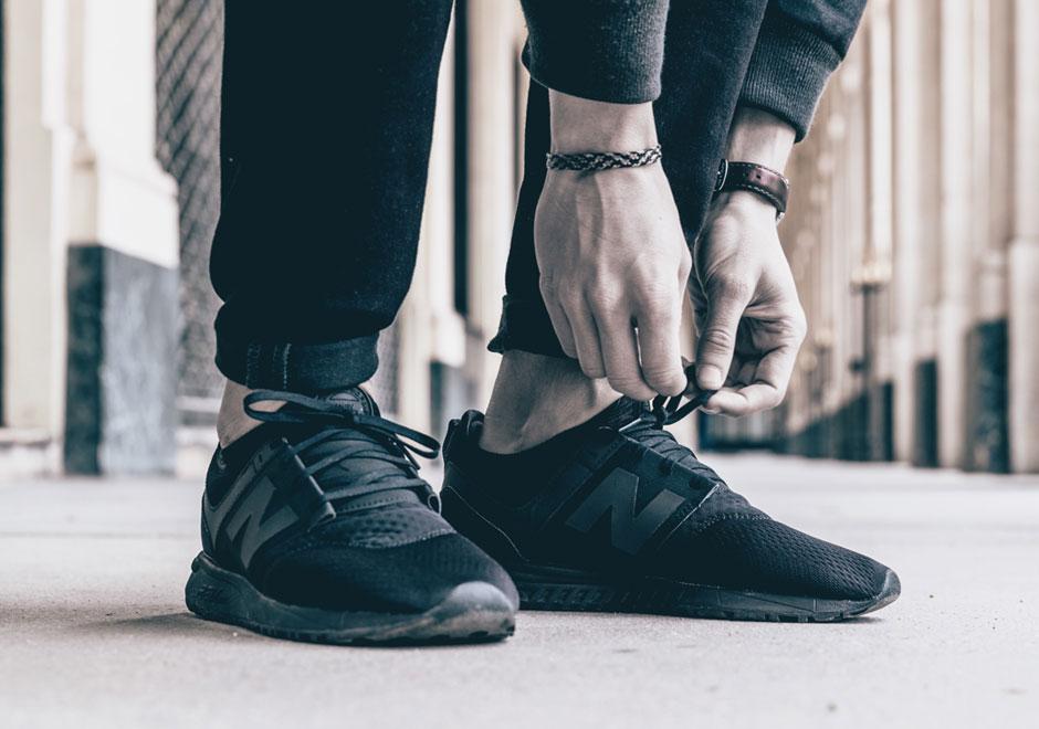 new balance black look