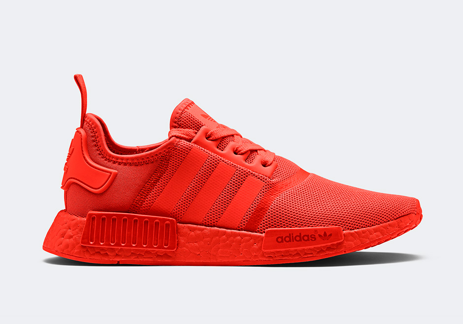 Adidas NMD R1 Core Black Lush Red (2015/2017) sneakers