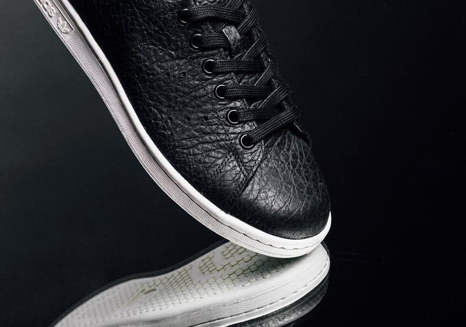 uk availability c2339 1d79b adidas Stan Smith Tumbled Leather Black BB0037 | SneakerNews.com