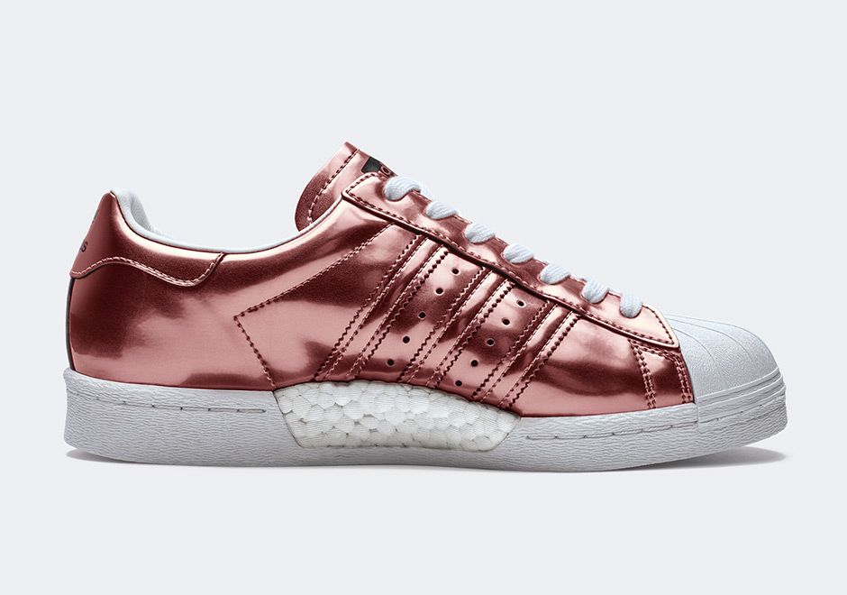 adidas Originals Officially Unveils the Superstar BOOST Women's Metallic Colorways