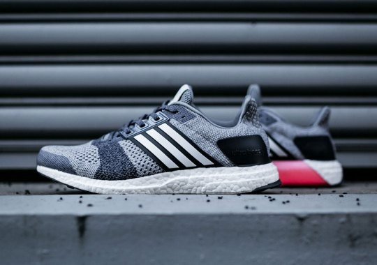 adidas Ultra Boost ST Releases In Grey And Pink