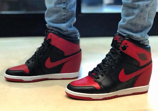 "Michael Jordan's Wife Gets Air Jordan 1 ""Banned"" Sneaker Wedge"