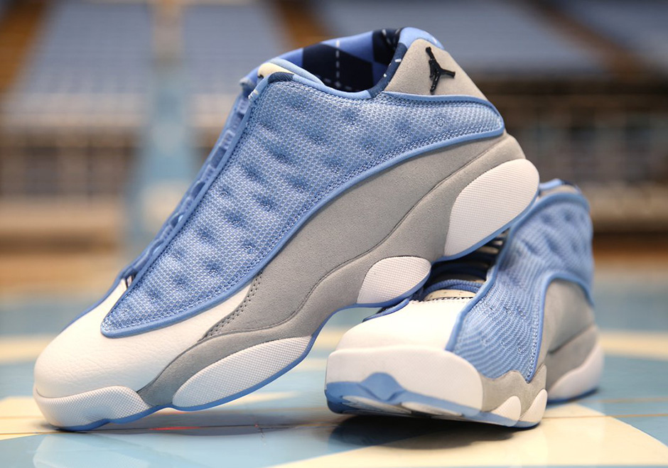 36c8b75f9507e3 Air Jordan 13 Low UNC PE for March Madness