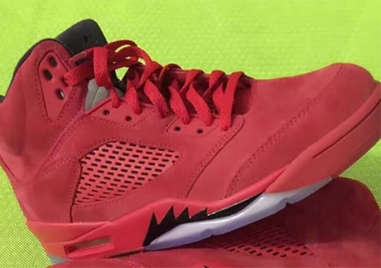"Air Jordan 5 ""Red Suede"" Releases In July"
