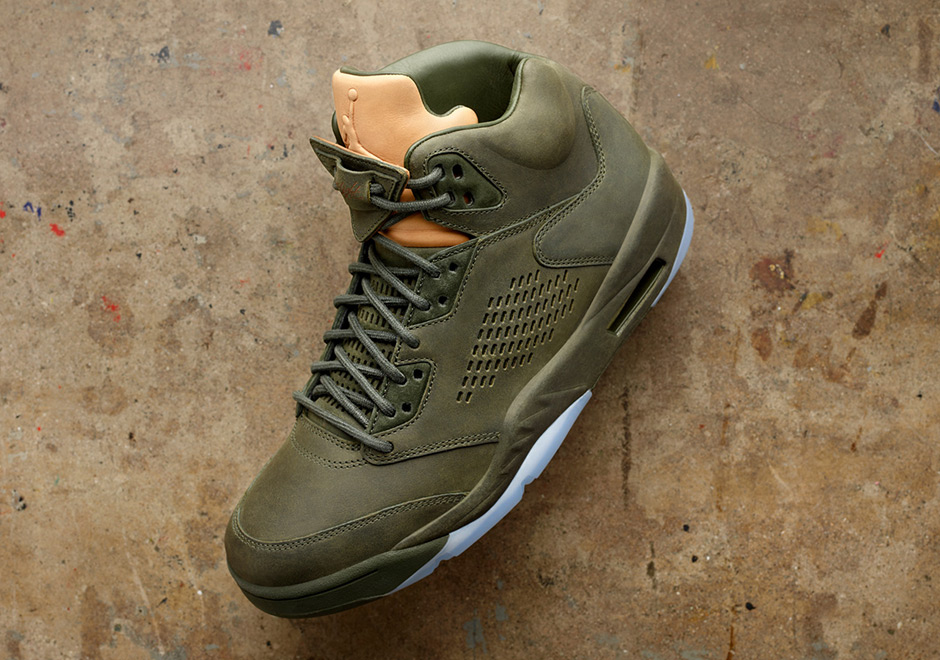 Nike Air Jordan 5 Retro PREM V Premium Luxury Take Flight Men Exclusive Sequoia AJ5 881432-305 Buy