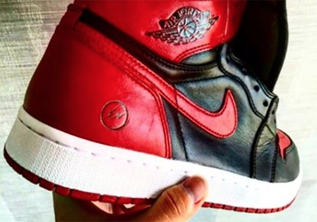 "Update: The ""Banned"" colorway of the fragment x Air Jordan 1 is confirmed by Jordan Brand to be counterfeit."