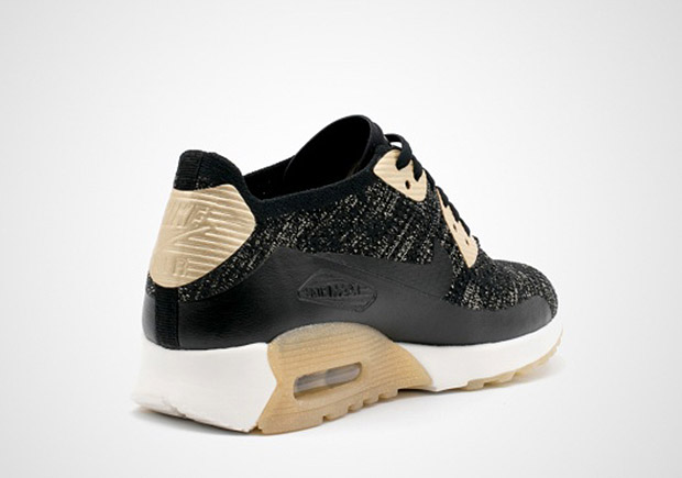 67e11491e1 Nike WMNS Air Max Thea Ultra Flyknit Global Release Date: March 8, 2017.  Color: Black/Metallic Gold-White