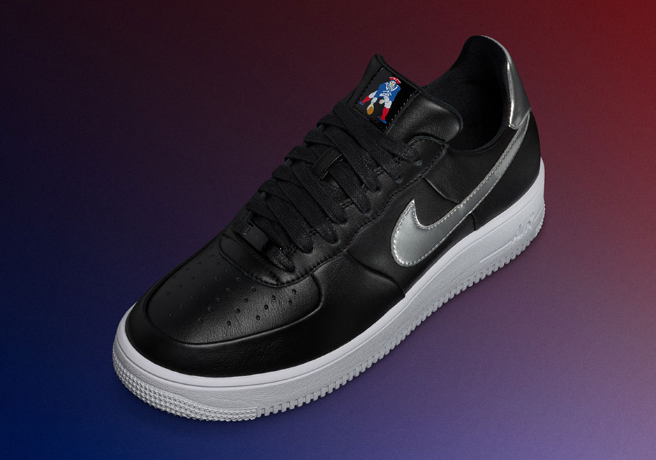 cheaper 0c411 35094 Nike Celebrates Super Bowl Sunday With Restock of Patriots Air Force 1s and Air  Jordan 5 Black Metallic