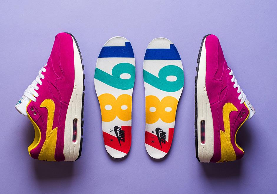 7e9611fc27 Nike Air Max 1 30th Anniversary Berry Vivid Sulfur ( 875844-500 ...