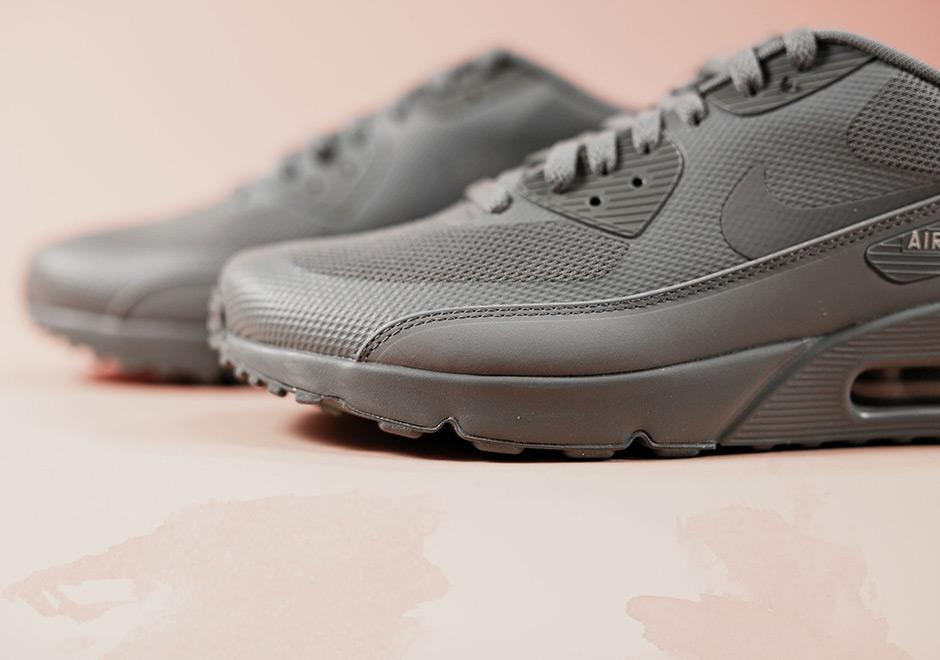 Nike Air Max 90 Ultra 2.0 Essential Men Running Train Shoes Cool Grey 875695 003