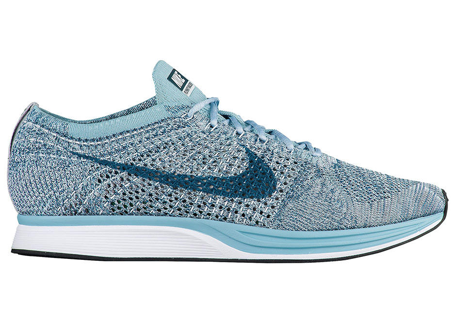 dad4b3f27a3a uk women men nike flyknit racer shoes 526628 102 white legion blue mica blue  9299c f4329  canada arguably the most popular nike flyknit sneaker in  history ...