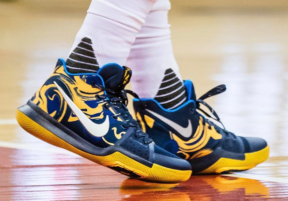 Nike Kyrie 3 Blue Yellow PE Vs Wizards  SneakerNews.com