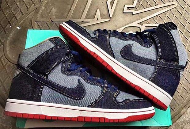 Nike SB Dunk High Denim 2017 Preview