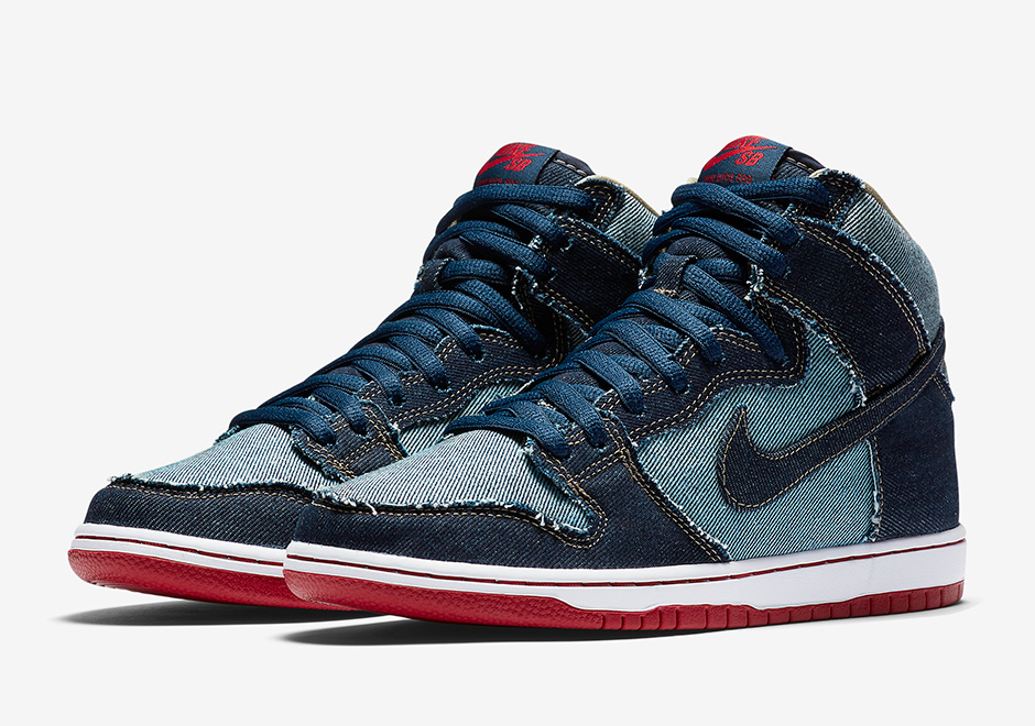 new concept 2b2ba 6376f Nike SB Dunk High Denim Reese Forbes Release Date   SneakerNews.com