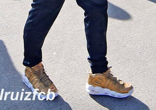 """Neymar Jr. Spotted In The Nike """"Suptempo"""" In Gold"""
