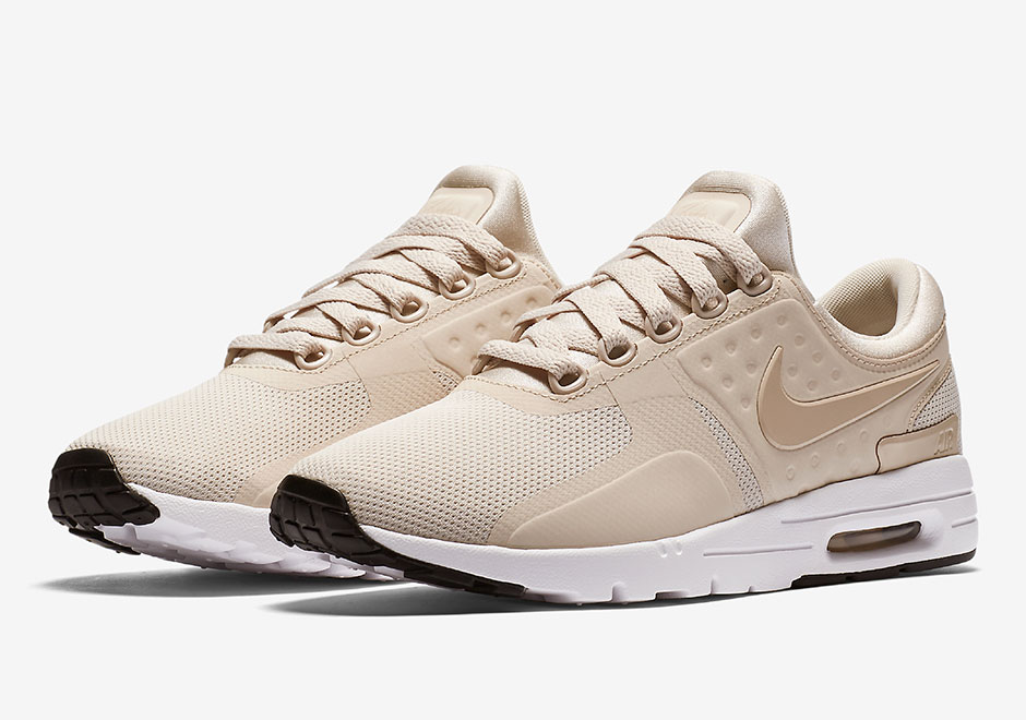 "2e56c4e969d916 Nike Sportswear heats up a tasty new look for the women s Air Max Zero in  ""Oatmeal"". We re guessing you find this oatmeal not too hot or cold"