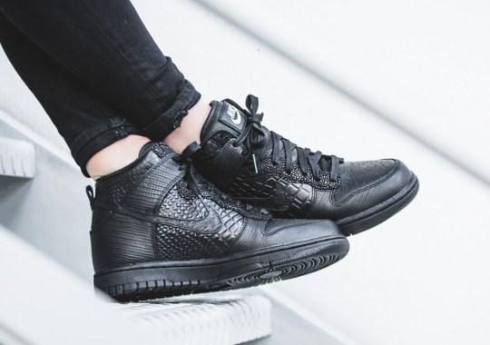Nike Sportswear Adds Black Croc-Skin To Four Different Models