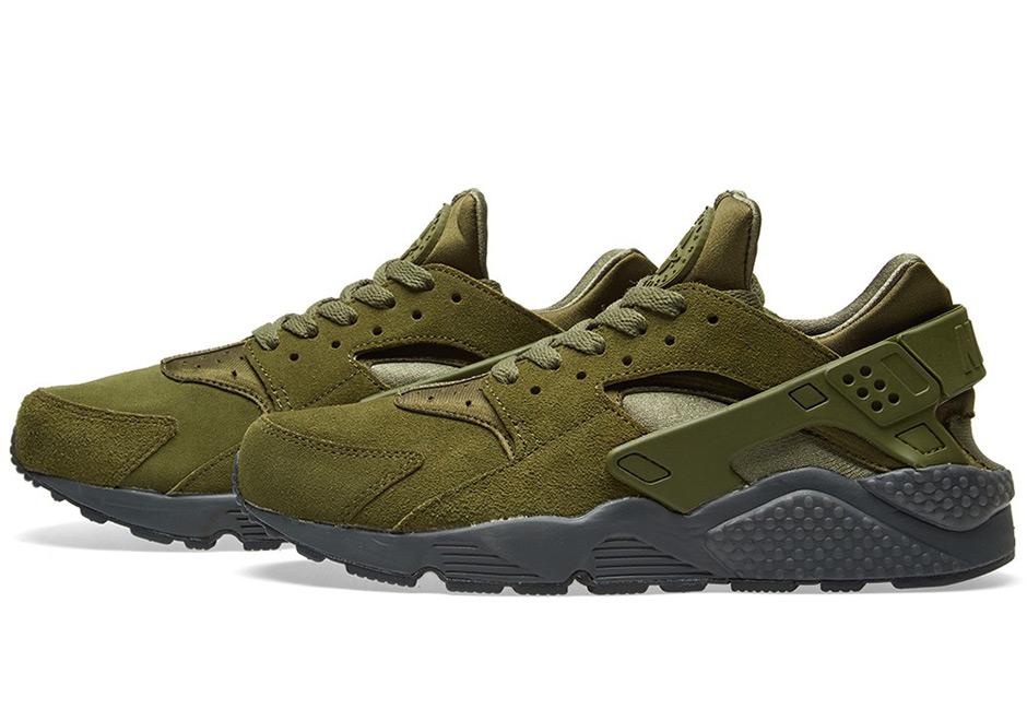 db6c87fc9723 Nike Air Huarache Run SE  125. Color  Legion Green Anthracite