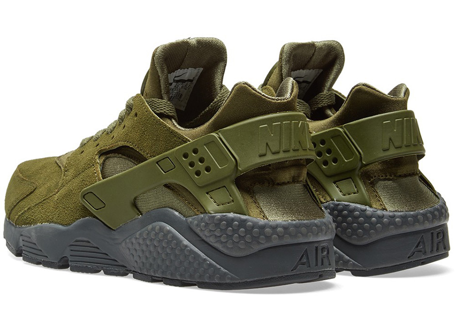 Nike Air Huarache Legion Green Suede 852628 301