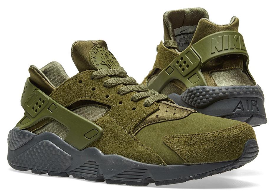 082b2fede063 Nike Air Huarache Run SE  125. Color  Legion Green Anthracite